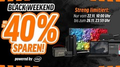 Black Weekend bei Notebooksbilliger: 5 Tage Powershoppen mit vielen Deals.