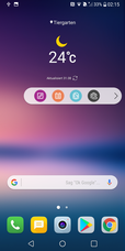 LG V30: Homescreen mit Floating Bar