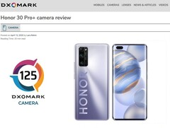 Honor 30 Pro+ holt Platz 2 im Dxomark-Kameratest.