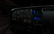Standard X-Plane 11 Cessna 172SP Cocking bei Nacht (Quelle: Laminar Research)