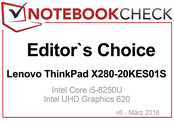 Editors Choice Award im März 2018: Lenovo ThinkPad X280