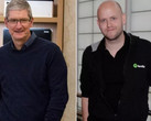 Apple CEO Tim Cook gegen Spotify CEO Daniel Ek. Bild: Getty/Recode