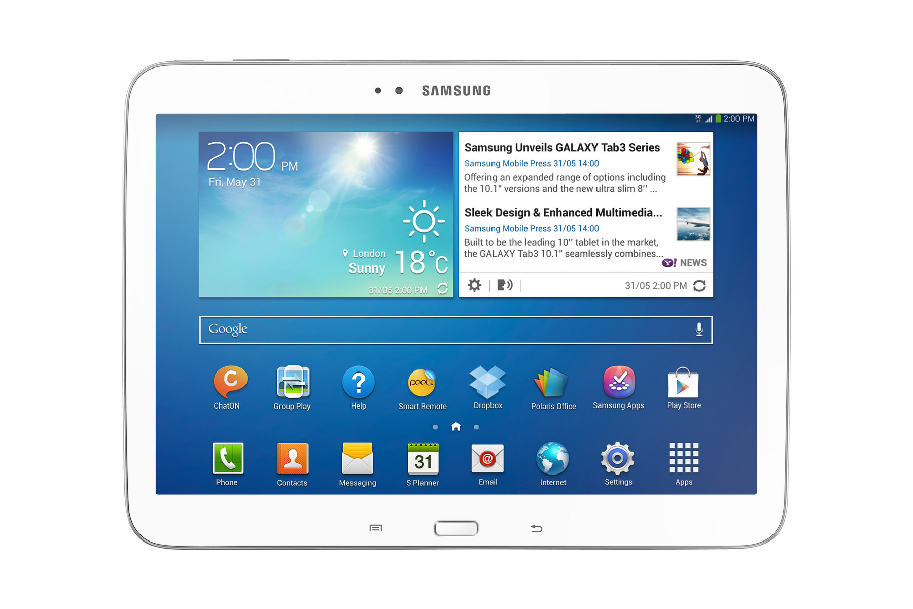 Samsung Galaxy Tab 3 Serie Externe Tests T111 Lite White 101