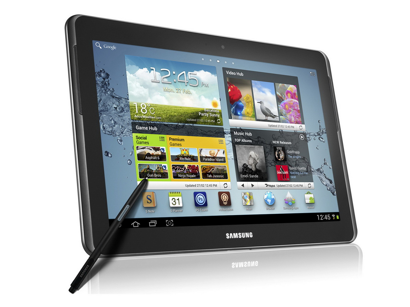 Samsung präsentiert 10,1-Zoll-Tablet Galaxy Note 10.1 ...