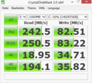 Crystal Disk Mark 242 MB/s SSD