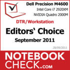 Award DTR-Notebook des Monats September 2011