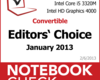 Im Test bei NBC: Best of Januar 2013 - Notebooks und Convertibles