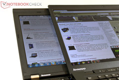 Blickwinkel Lenovo Thinkpad X1 Carbon vs. Thinkpad X220 IPS: