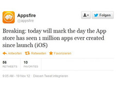 Apple: Mehr als 1 Million Apps im App Store