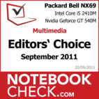 Award Multimedia-Notebook des Monats September 2011