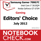 Award Samsung Serie 7 Gamer