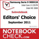 Award Subnotebook des Monats September 2011