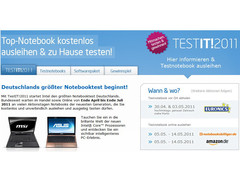 Intel: Deutschlands größter Notebooktest TestIT!2011 ab 30. April