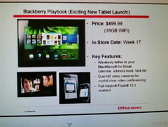 RIM: Blackberry Playbook ab April für 499 US-Dollar