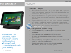 Dell: Neue Details zum Windows-8-Tablet Dell Latitude 10