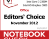 Im Test bei NBC: Best of November 2012 - Notebooks