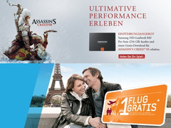 Samsung: SSD 840 mit Gratis-Flug oder Gratis-Game Assassin's Creed 3