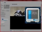3.0-3.1 GHz @ Single-Core-Rendering Cinebench R10