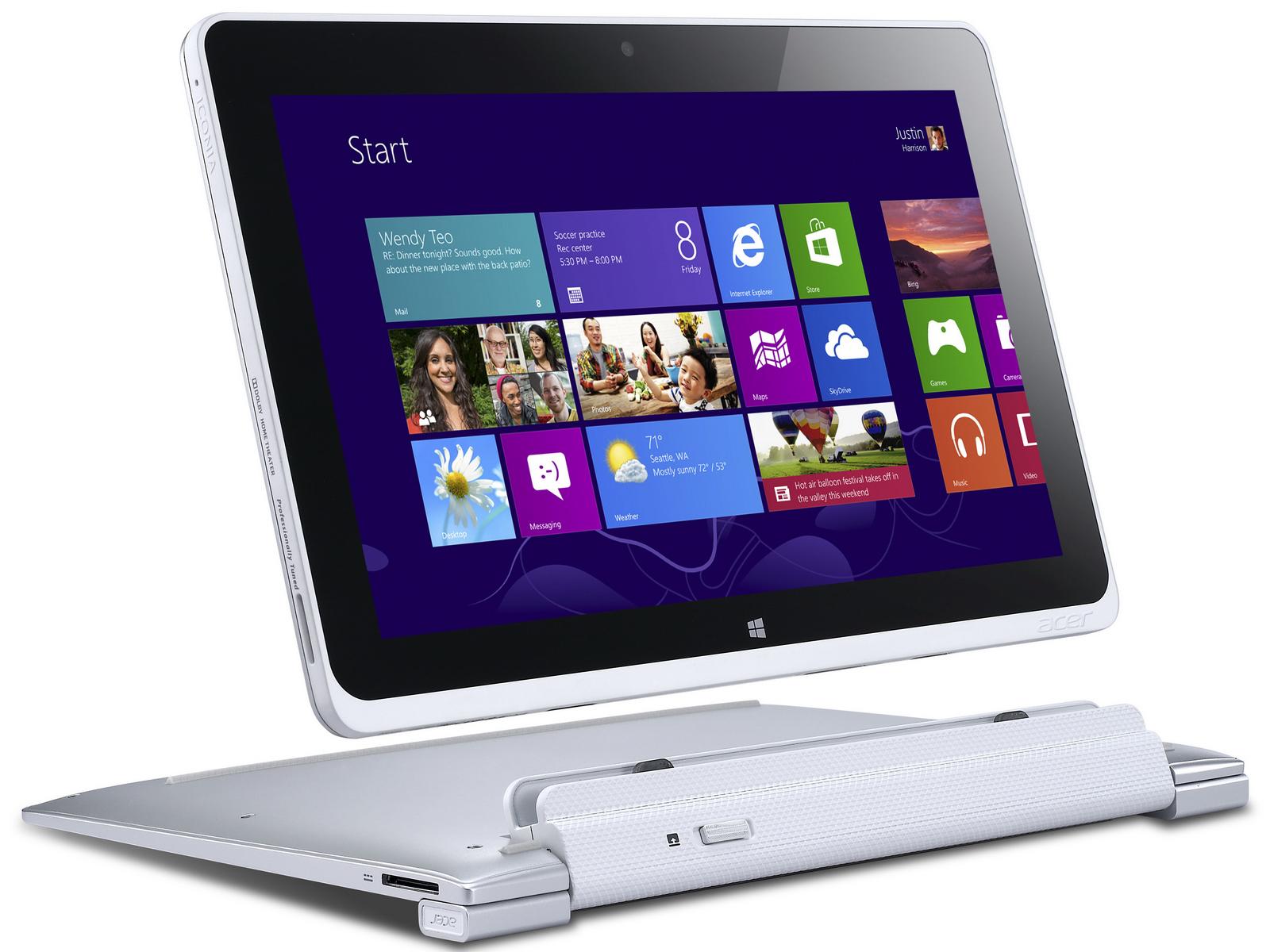 Acer: Windows-8-Tablets Iconia W700 und W510 ab Ende ...