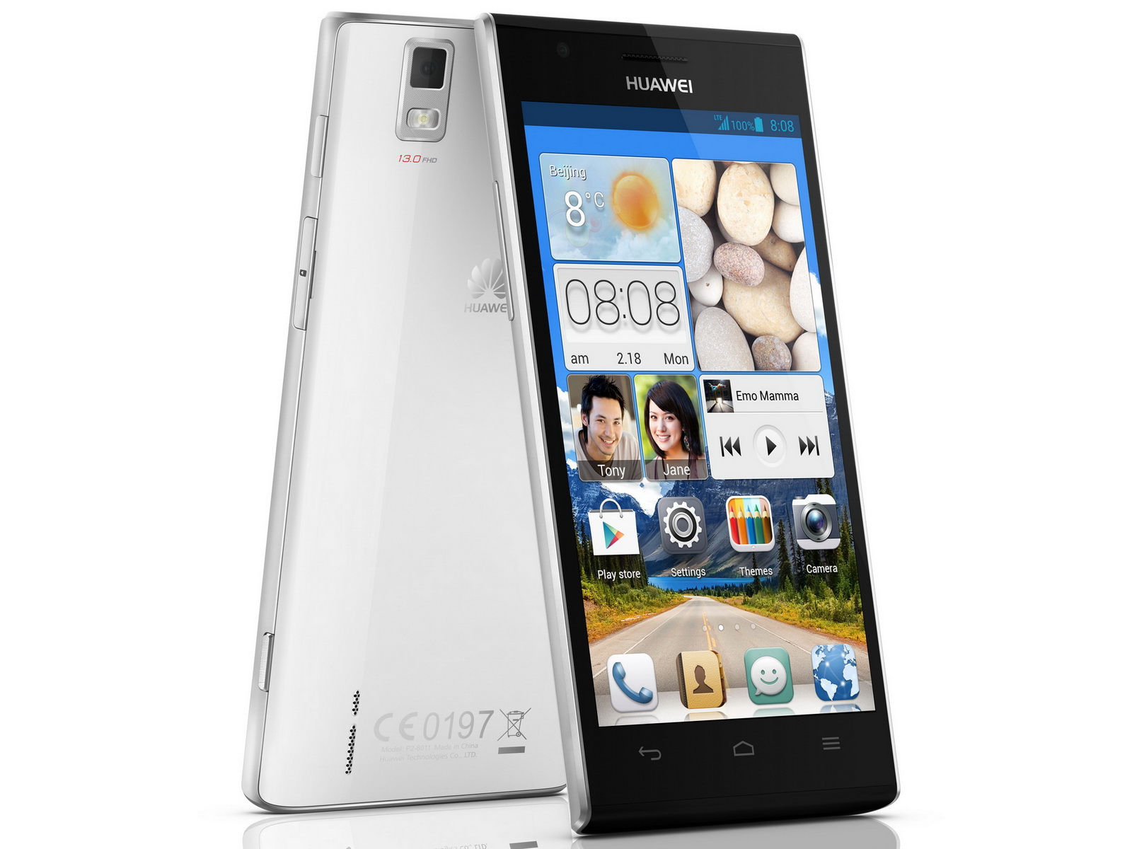 huawei 4 7 zoll smartphone ascend p2 ab sofort f r 450. Black Bedroom Furniture Sets. Home Design Ideas