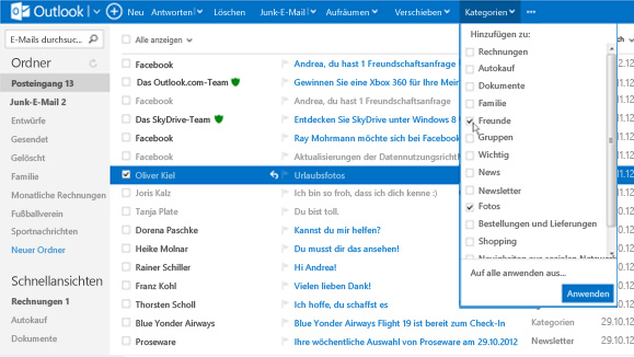 Outlook Windows 8,1