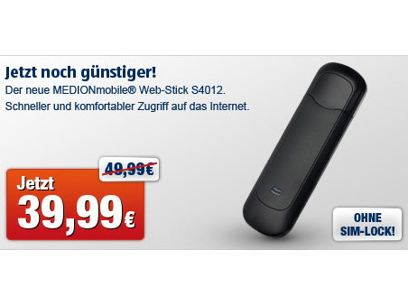 aldi preissenkung f r medionmobile web stick. Black Bedroom Furniture Sets. Home Design Ideas