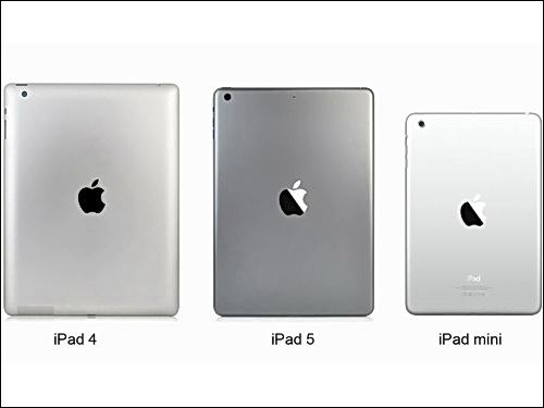 Apple vergleich von ipad 5 und ipad 4 im video