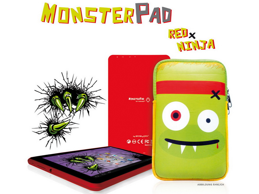 easypix neue 7 zoll tablets monsterpad red ninja und. Black Bedroom Furniture Sets. Home Design Ideas